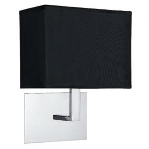 Chrome Wall Light In Black Rectangular Shade