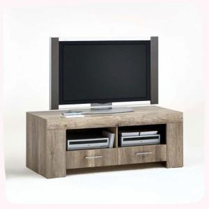 Monalisa 4 Wild Oak Lowboard TV Stand With 2 Shelf and 2 Drawer
