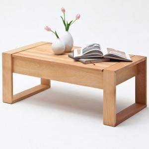 Victor Coffee Table In Core Beech With Lift Function