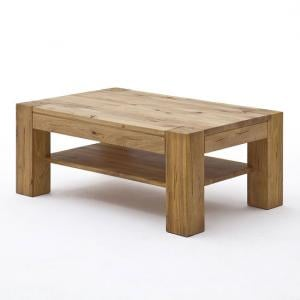 Lennox Wooden Coffee Table Rectangular In Wild Oak