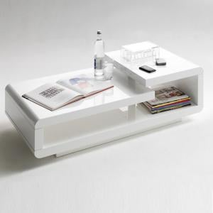Saffron Coffee Table Rectangular In White High Gloss