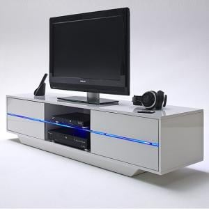 Sienna TV Stand Unit In High Gloss With Multi Led Lights_2