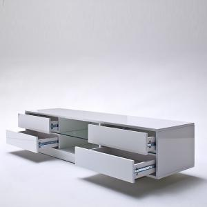 Sienna TV Stand Unit In High Gloss With Multi Led Lights_5