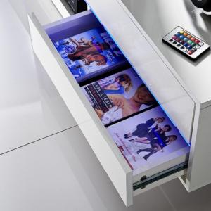 Sienna TV Stand Unit In High Gloss With Multi Led Lights_12