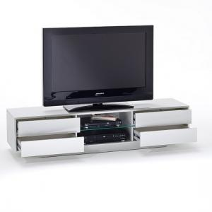 Sienna TV Stand Unit In High Gloss With Multi Led Lights_4
