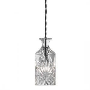 Decanter Wine Bar 1 Light Square Glass Ceiling Pendant