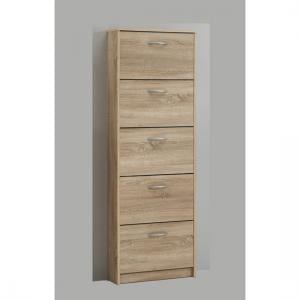Atlanta Shoe Storage Cabinet In Oaktree With 5 Drawer