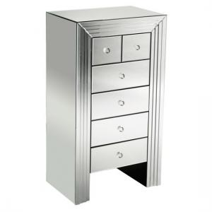 New Line Mirrored 6 Drawer Chest
