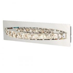 Chrome Curved Wall Bracket Led With Clear Crystal
