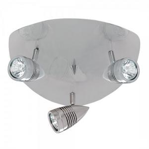 Falcon Satin Silver Three Triangular Ceiling Spotlight