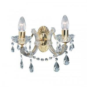 Marie Therese 2 Lamp Crystal Wall Light With Droplets
