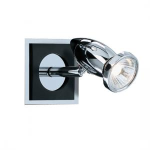 Comet Chrome And Black Wall Adjustable Spotlight