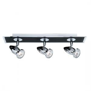 Comet Chrome And Black Three Light Spotlight Bar