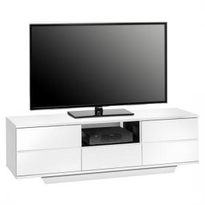Ashford LCD TV Stand In White And Black High Gloss