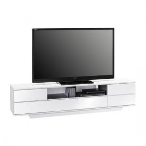 Norstone LCD TV Stand Wide In White And Black High Gloss