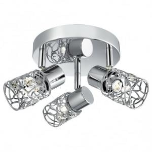 Mesh Spot Three Adjustable Lamp Spotlight With Chrome Loop Shade