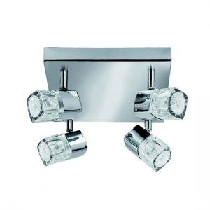 Blocs Chrome Four Light Spotlight With Ice Cube Glass