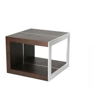 Soha Contemporary Lamp Table In Dark ELM Finish