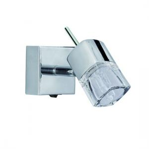 Blocs Cube Shape Chrome Wall Adjutable Spotlight