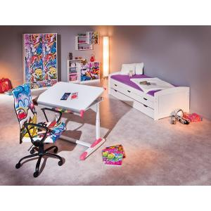 Tycoon Children Office Chair In Coloured PU Leather With Rollers_9