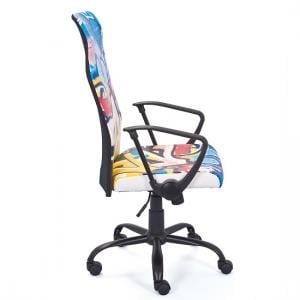 Tycoon Children Office Chair In Coloured PU Leather With Rollers_4