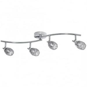 Mesh Spot Chrome Four Adjustable Oval Shaped Spotlight Bar