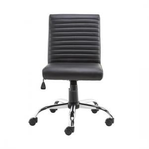 Laning Home And Office Chair In Black Faux Leather