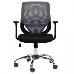 Atlanta Home And Office Chair In Black And Grey With Fabric Seat