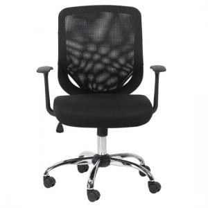 Atlanta Home And Office Chair In Black With Fabric Seat