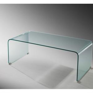 Azuria Coffee Table Rectangular In Bent Clear Glass