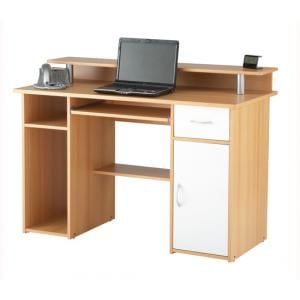 Parker Computer Work Station In Beech Effect