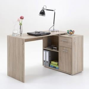 Albea Corner Wooden Computer Desk In Oaktree