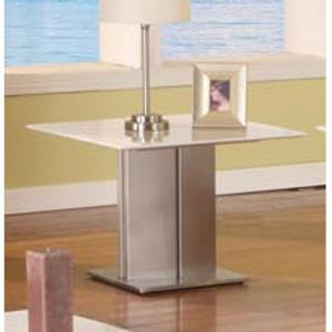Alessia Contemporary White Marble Lamp Table