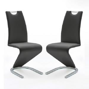 Amado Z Black Faux Leather Dining Chair In A Pair