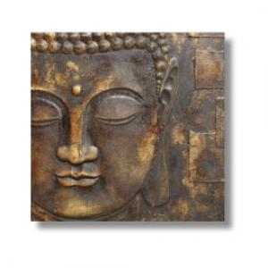 Peaceful Black And Gold Buddha 3D Wall Art