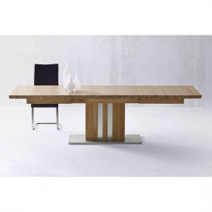 Bolzano Extendable Dining Table Wide In Solid Oak