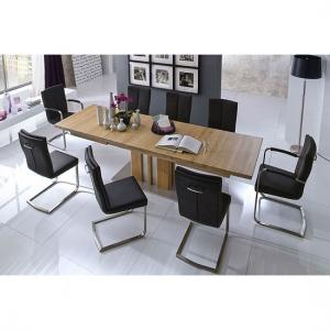 Bolzano Extendable Solid Oak Dining Table With 8 Luna Chairs