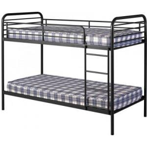 Bradley 3\' Metal Budget Bunk Bed in Black