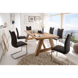 Bristol 10 Seater Wooden Dining Table With Pavo Dining Chairs