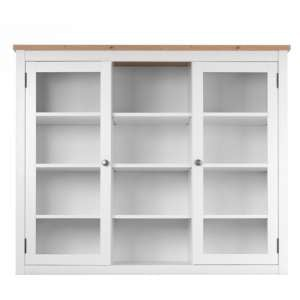 Bergen Wooden Display Cabinet In White Artisan Oak