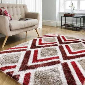 Velvet Bijoux Red And Brown Rug