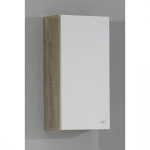 Bilbao1 Canadian oak gloss Bathroom Wall Cabinet