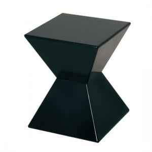 Edge Funky End Table In Black High Gloss Lacquered