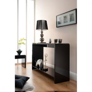 Toscana Console Table In Black High Gloss