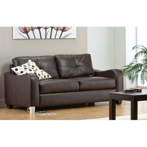 Boca 2 Seater Brown Leather Sofa