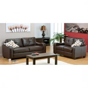 Boca Brown 2+2 Leather Suite