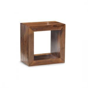 Cube Sheesham Single Hole Dispaly Unit