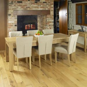 Artisan Extendable Dining Table With 8 Dining Chairs In Oak