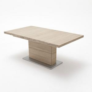 Corato Extendable Rectangular Dining Table Large In Bianco Oak
