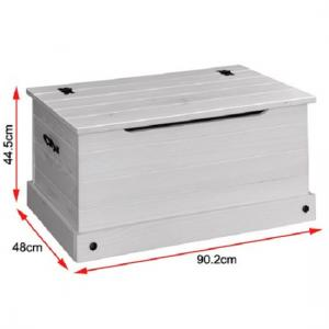 Coroner Blanket Box In White Washed With Storage_3